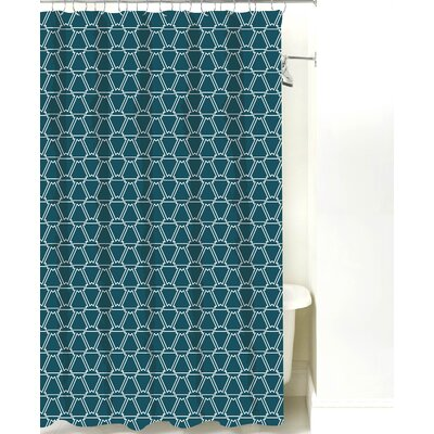 Cotton Shower Curtain Color: Teal