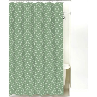 Argyle Cotton Shower Curtain Color: Seamist