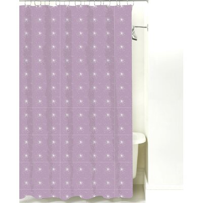 Star Burst Cotton Shower Curtain Color: Lilac