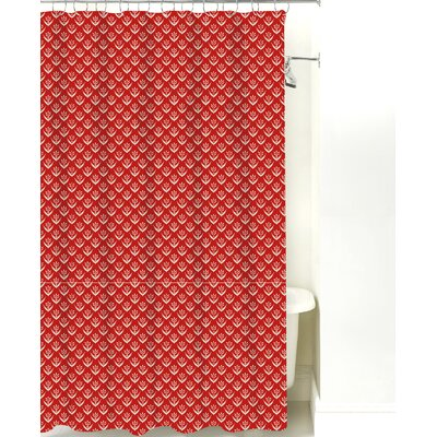 Wild Meadow Cotton Shower Curtain Color: Red Sand