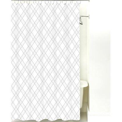 Argyle Cotton Shower Curtain Color: Gray