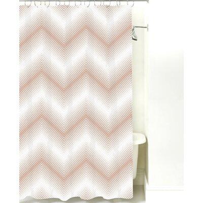 Modern Chevron Cotton Shower Curtain Color: Light Brown