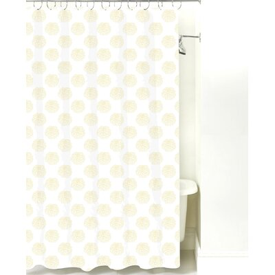 Peony Cotton Shower Curtain Color: Yellow