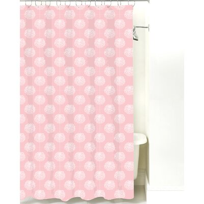 Peony Cotton Shower Curtain Color: Pink