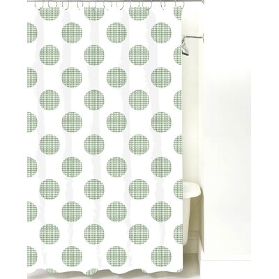 Modern Cotton Shower Curtain Color: Sea Mist