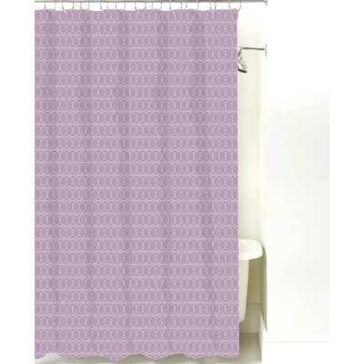 Spiral Graph Cotton Shower Curtain Color: Lilac