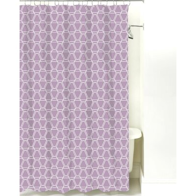 Cotton Shower Curtain Color: Lilac