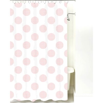 Modern Cotton Shower Curtain Color: Pink