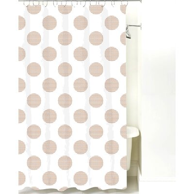 Modern Cotton Shower Curtain Color: Light Brown