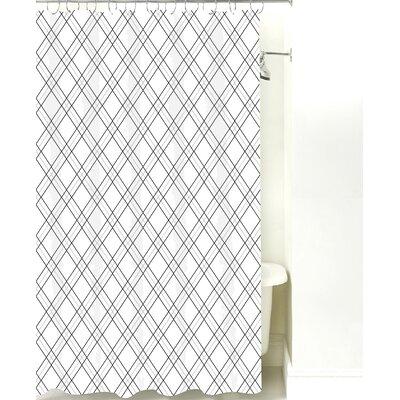 Argyle Cotton Shower Curtain Color: Black