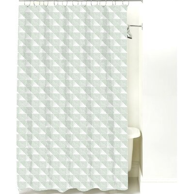 Origami Cotton Shower Curtain Color: Sea Mist