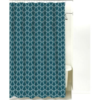 Navajo Cotton Shower Curtain Color: Teal