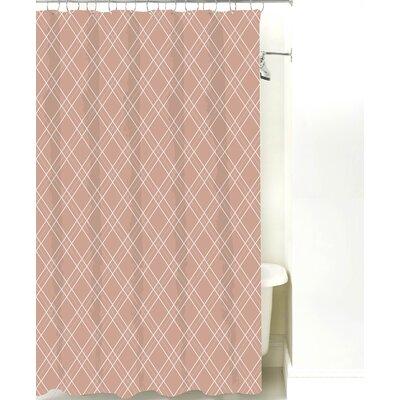 Argyle Cotton Shower Curtain Color: Light Brown
