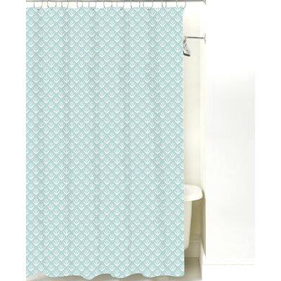 Wild Meadow Cotton Shower Curtain Color: Pale Blue