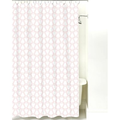 Navajo Cotton Shower Curtain Color: Pink Line