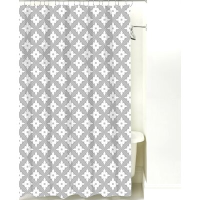 Kaleidoscope Cotton Shower Curtain Color: Gray