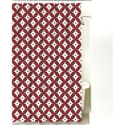Kaleidoscope Cotton Shower Curtain Color: Maroon