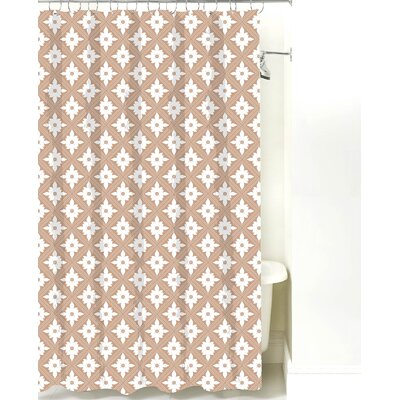 Kaleidoscope Cotton Shower Curtain Color: Light Brown