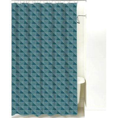 Origami Cotton Shower Curtain Color: Teal