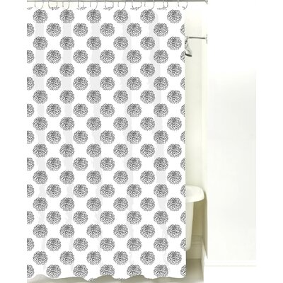 Peony Cotton Shower Curtain Color: Sage
