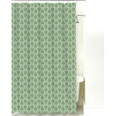 Navajo Cotton Shower Curtain Color: Sea Mist