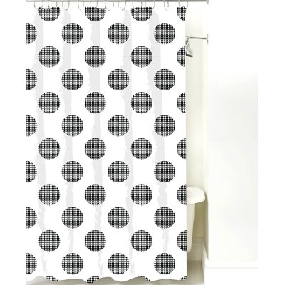 Modern Cotton Shower Curtain Color: Black