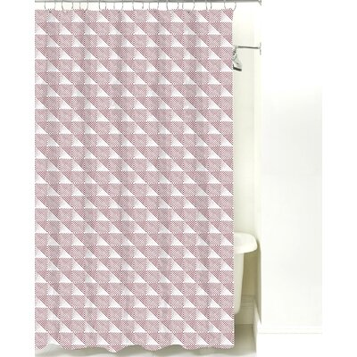 Origami Cotton Shower Curtain Color: Maroon