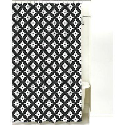 Kaleidoscope Cotton Shower Curtain Color: Black