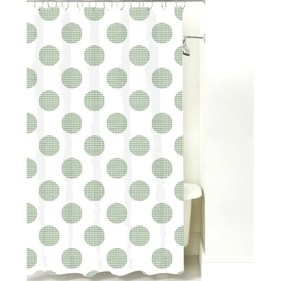 Modern Dot Cotton Shower Curtain Color: Sea Mist