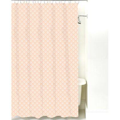 Wild Meadow Cotton Shower Curtain Color: Peach