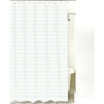 Spiral Graph Cotton Shower Curtain Color: Mint