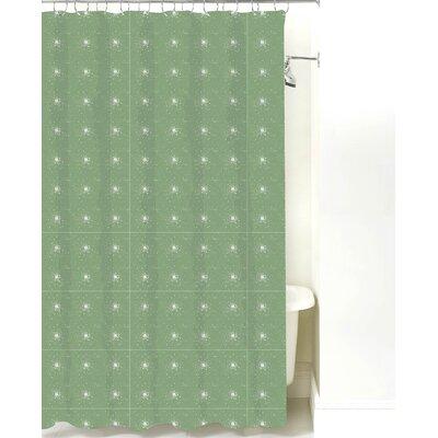 Star Burst Cotton Shower Curtain Color: Sea Mist