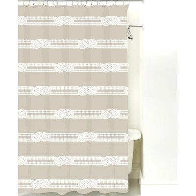 Nautical Ropes Cotton Shower Curtain Color: Sand