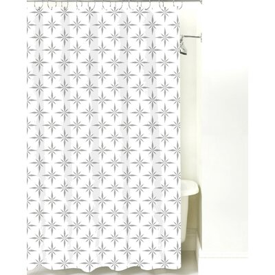 Nautical Compass Cotton Shower Curtain Color: Gray