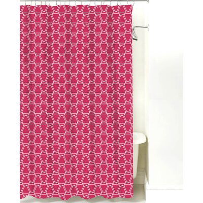 Navajo Cotton Shower Curtain Color: Magenta