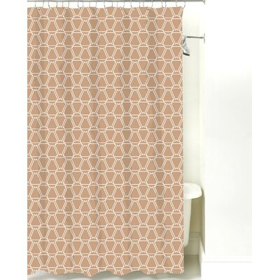 Navajo Cotton Shower Curtain Color: Light Brown
