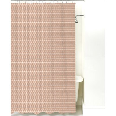 Mosaic Cotton Shower Curtain Color: Light Brown