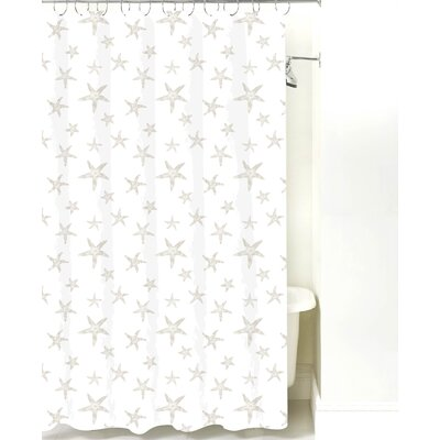 Starfish Cotton Shower Curtain Color: Sand
