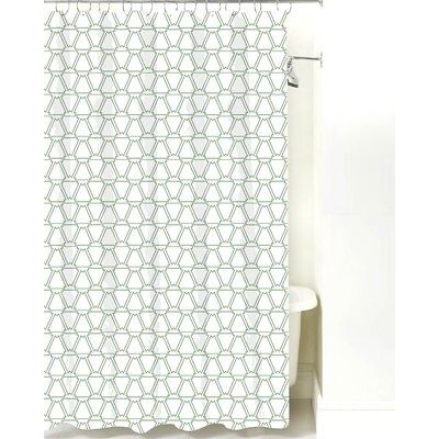 Navajo Cotton Shower Curtain Color: Sea Mist Line