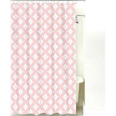 Kaleidoscope Cotton Shower Curtain Color: Pink