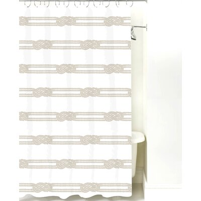 Nautical Ropes Cotton Shower Curtain Color: Sand Rope