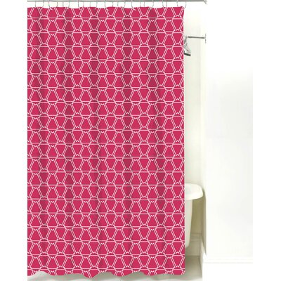 Cotton Shower Curtain Color: Magenta