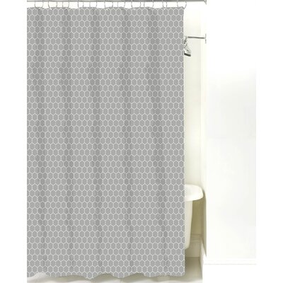 Mosaic Cotton Shower Curtain Color: Gray