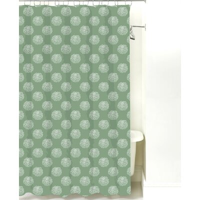 Peony Cotton Shower Curtain Color: Sea Mist