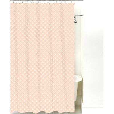 Wild Meadow Cotton Shower Curtain Color: Peach