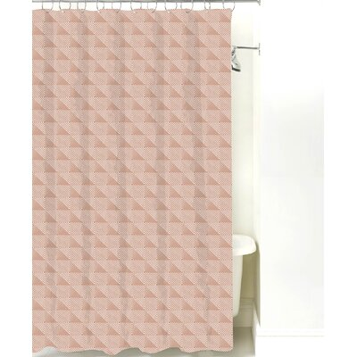 Origami Cotton Shower Curtain Color: Light Brown