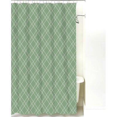 Argyle Cotton Shower Curtain Color: Seamist