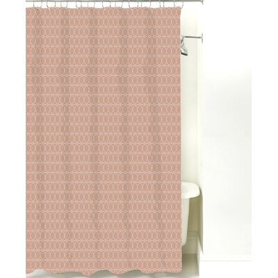 Spiral Graph Cotton Shower Curtain Color: Light Brown