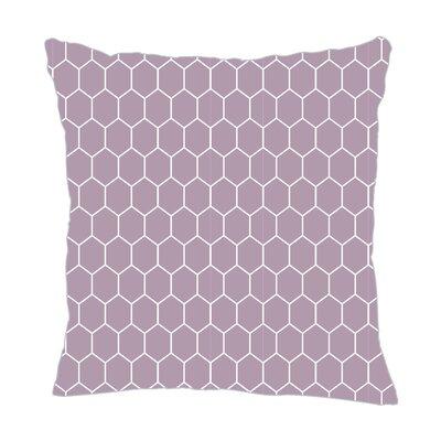 Mosaic Throw Pillow Color: Lilac