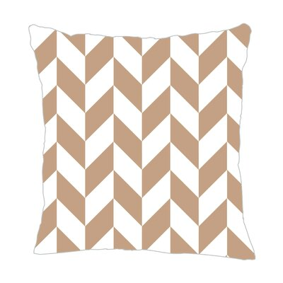 Zig Throw Pillow Color: Light Brown/White, Size: 20